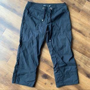 Prana black crop hike pants Sz XS